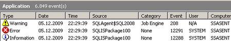 Die Events, die durch ein Paket mit vorhandener Connection erzeugt werden