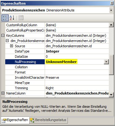 Null Processing bei der Key Coulmn eines Attributs